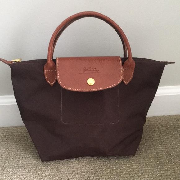 010d27d69ee4 Longchamp Handbags - Authentic small chocolate Le Pliage Longchamp